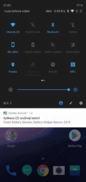 notifikace na oneplus 6 android 8 oreo