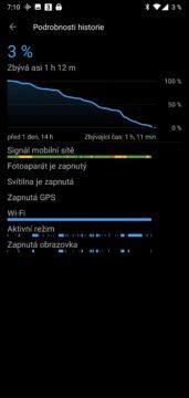 oneplus 6 baterie statistiky