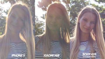 porovnani fotoaparatu sony a7ii vs iphone X vs xiaomi mi 8
