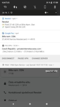 revolut google pay notifikace placeni