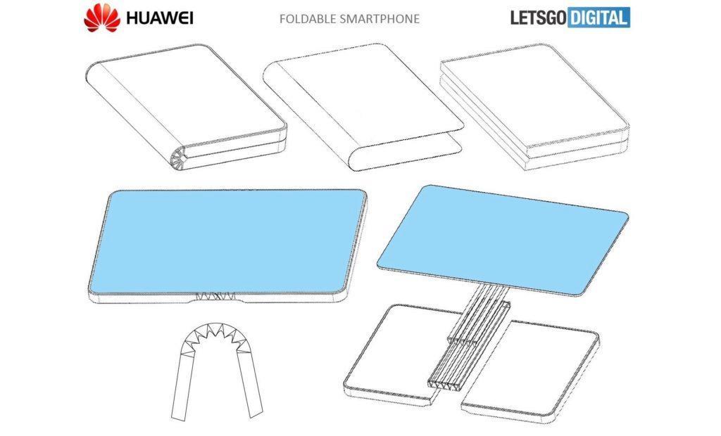 skladaci mobil huawei patent