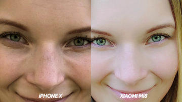 test selfie kamery detail apple iphone x vs xiaomi mi 8