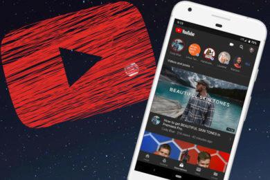 tmavy vzhled android youtube