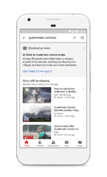 youtube velka aktualizace zpravodajstvi