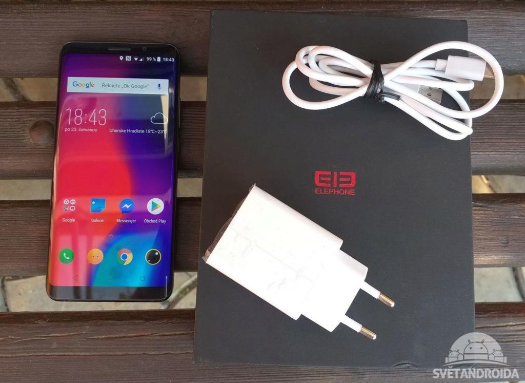 Elephone U Pro obsah balení