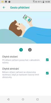 HTC U12 Plus - Edge Sense chytre funkce