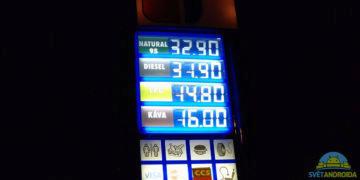 HTC U12 Plus fotoaparát noc benzinka