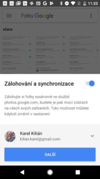 První spuštění aplikace a nabídka