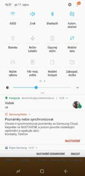 Samsung Experience galaxy note 9 notifikace