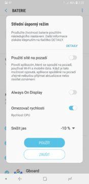 Samsung Galaxy A6+ úsporný režim
