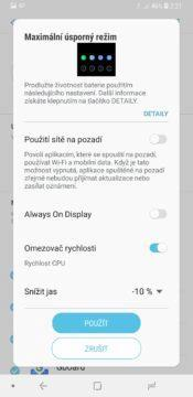 Samsung-Galaxy-A6-úsporný-režim