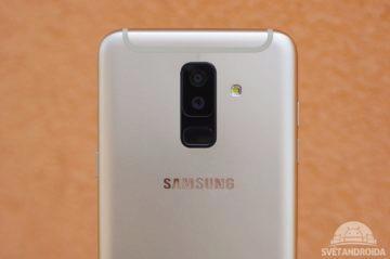 Samsung Galaxy A6+ fotoaparát