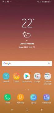 Samsung Galaxy A6+ launcher