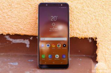 Samsung Galaxy A6+ přední strana displej