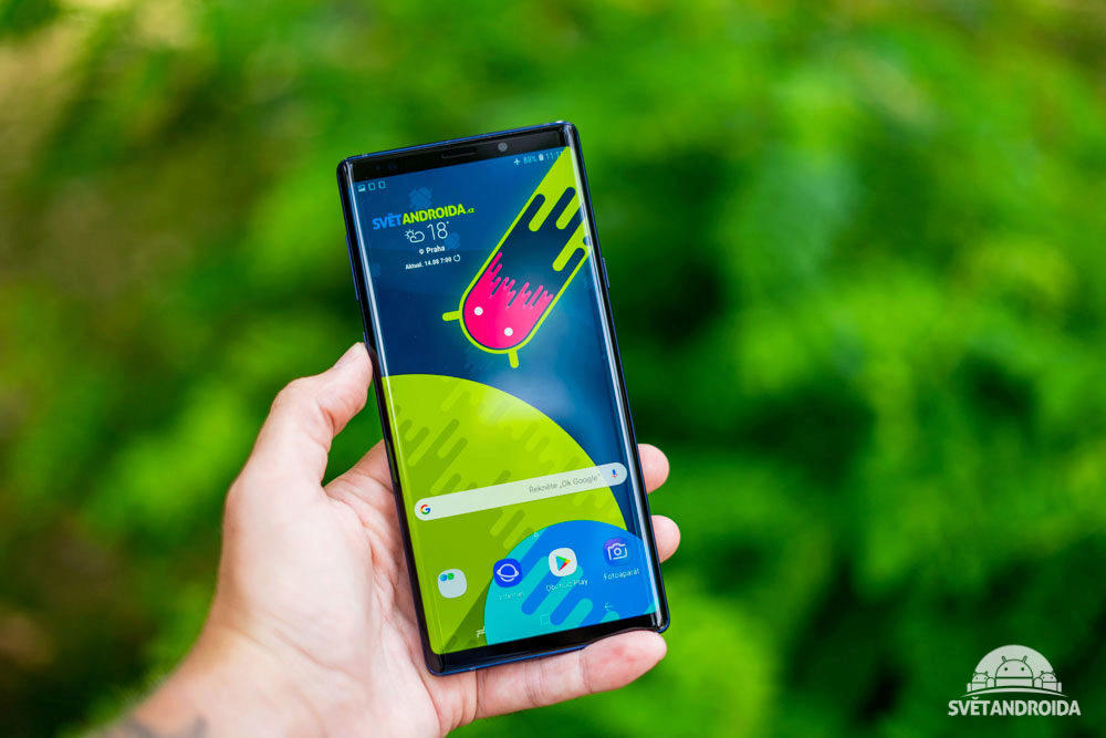Samsung Galaxy Note 9 displej