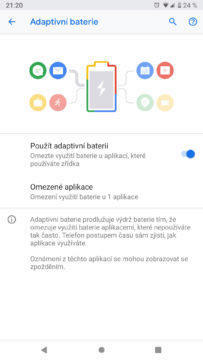 Android 9 Pie adaptivni baterie