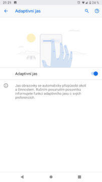 Android 9 Pie adaptivni jas