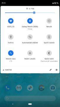 android 9 pie notifikacni lista
