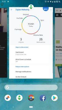 android 9 pie poslední aplikace