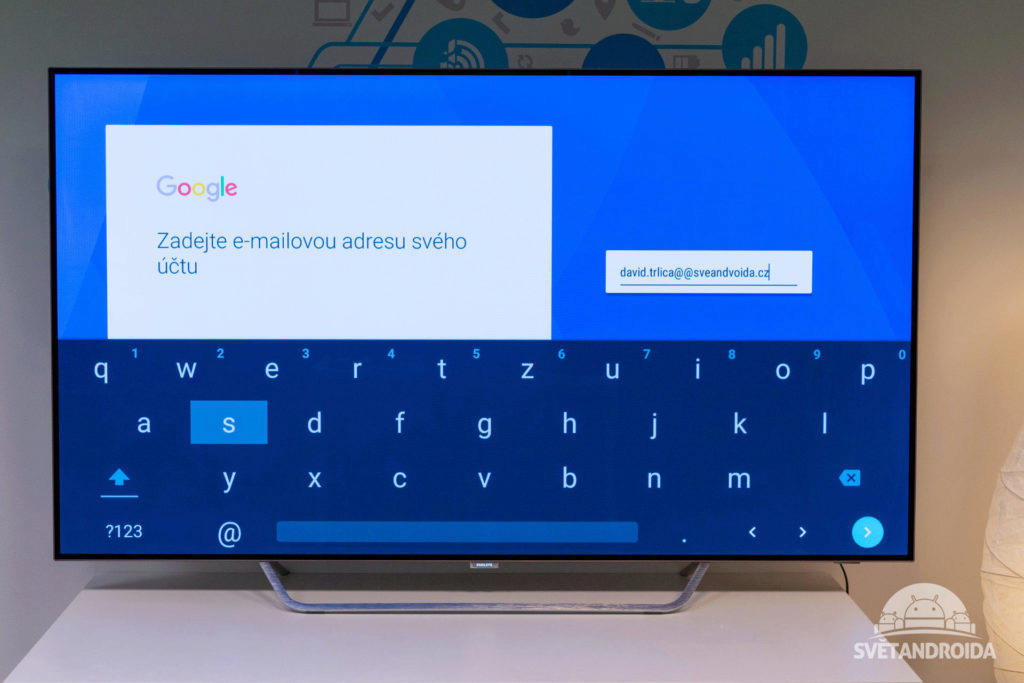 android google prihlasovani android tv