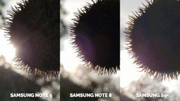fotografie proti slunci detail note 9 vs note 8 vs galaxy s9
