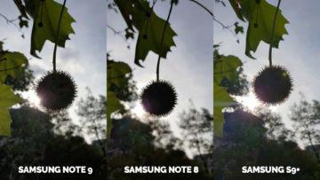 fotografie proti slunci note 9 vs note 8 vs galaxy s9