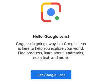 google googles nahrada google lens
