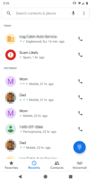 google telefon material design 2