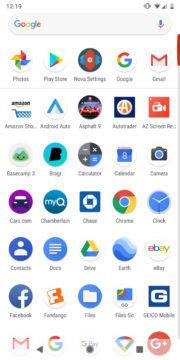 nova launcher vyhledavani v menu aplikaci