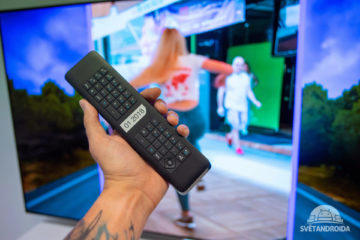 philips oled tv ovladac klavesnice