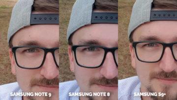 selfie detail samsung galaxy note 9 vs note 8 vs s9+
