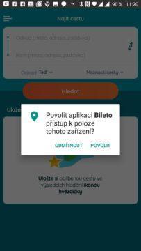 Aplikace žádá o přístup k poloze