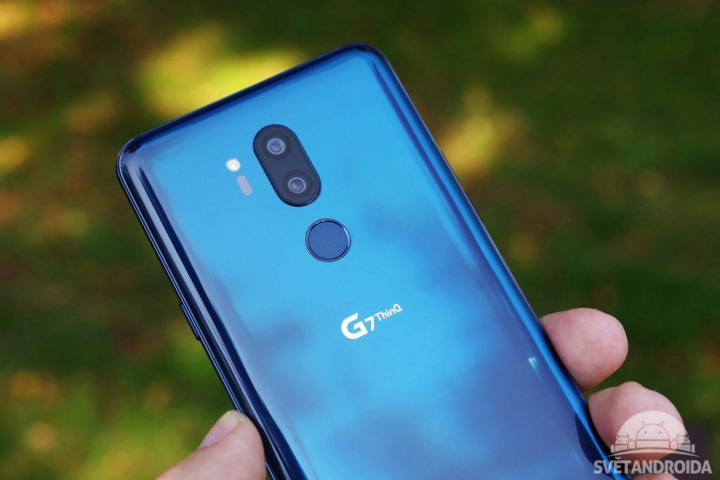 LG G7 ThinQ čtečka otisků