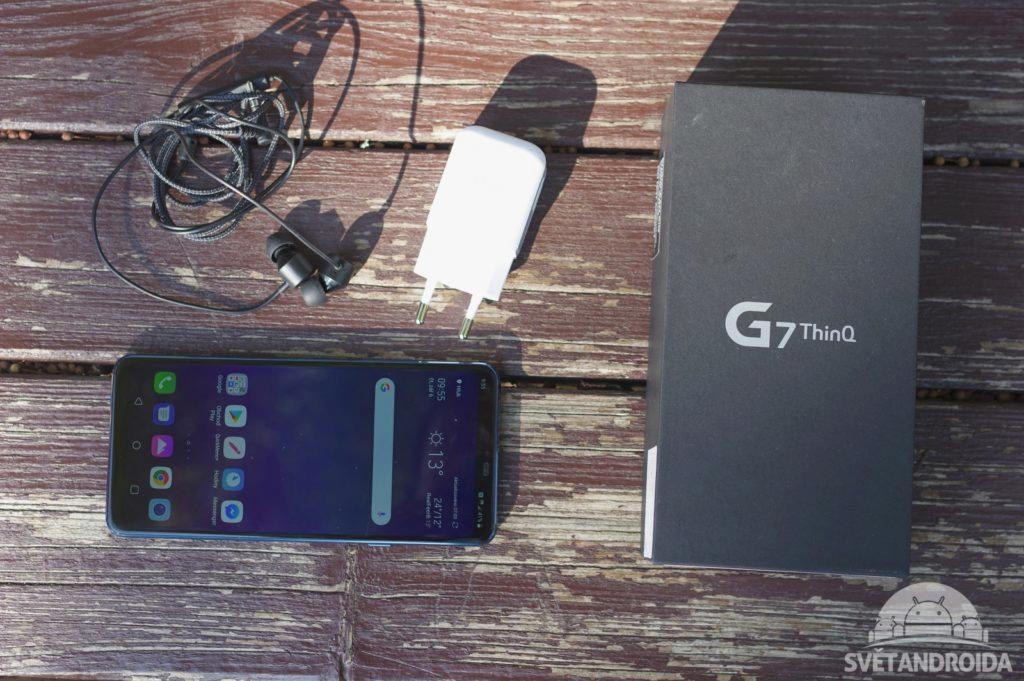 LG G7 ThinQ obsah balení