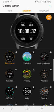 Samsung Galaxy Wearable ciferniky