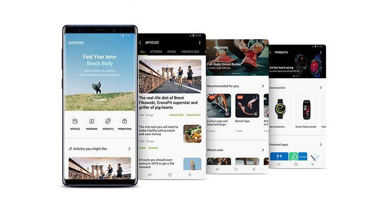 Samsung Health aktualizace fitness zdravi