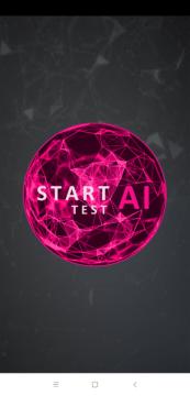 Tlačítko start AI Benchmark