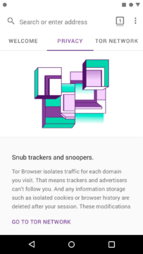 Tor Browser for Android prohlizec