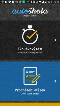 Zkouškový test a Procházení otázek