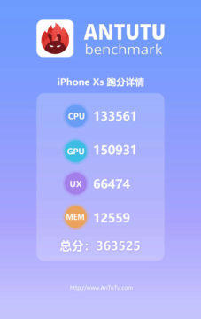 apple a12 antutu zebricek vykon apple iphone xs