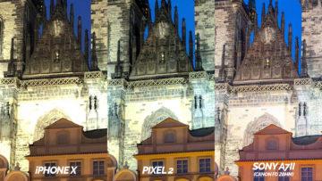 detail nocni fotografie test pixel 2 vs apple iphone X