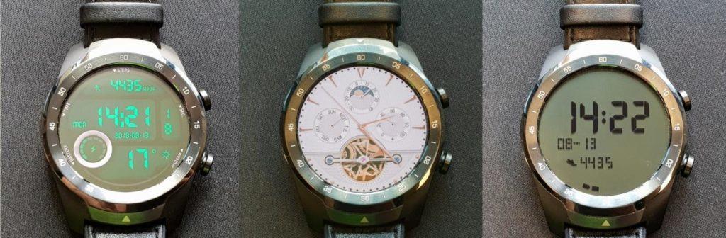 displeje chytrych hodinek ticwatch pro