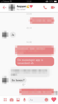 facebook messenger chat novy design