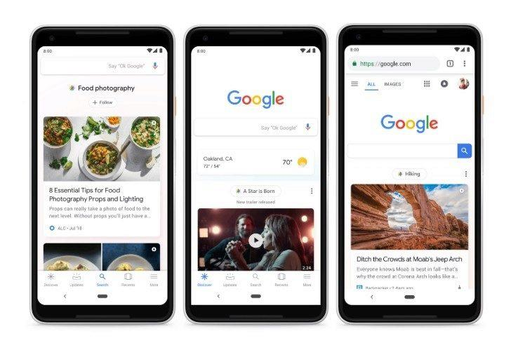 google discover chytre karty google feed now