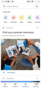 google fotky design material 2