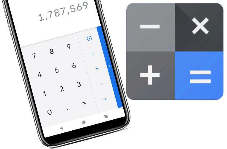 google kalkulacka material design 2
