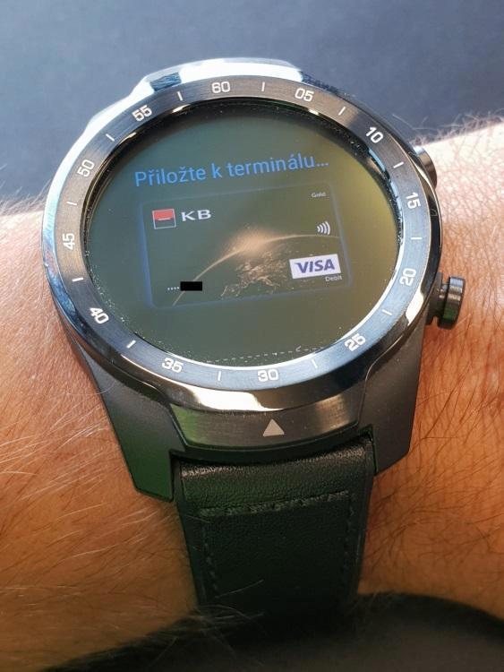 google pay nfc ticwatch pro