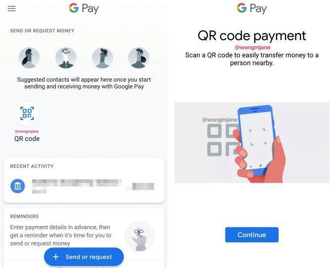 google pay platby pres qr kody
