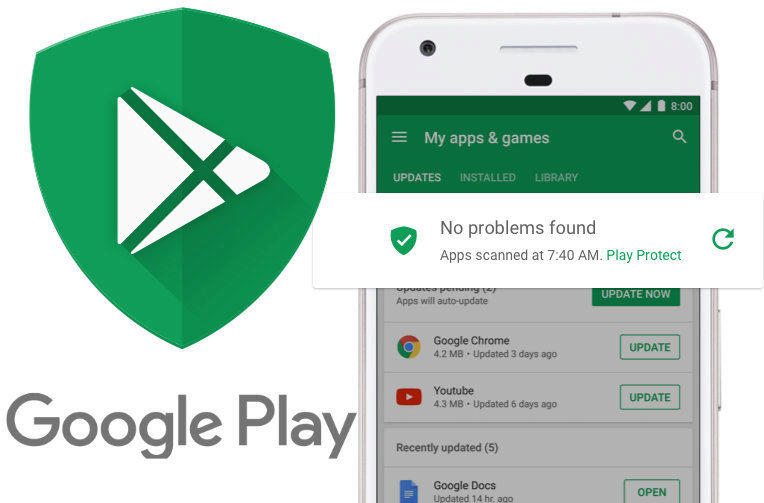 google play protect test ochrany