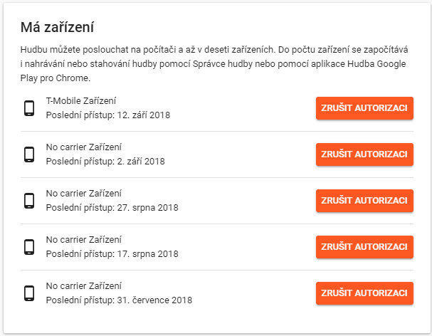 hudba google play limit zarizeni